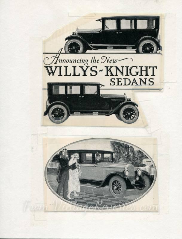 Wills Sainte Claire, Willys Knight, and Stutz auto ads