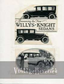 willys knight sedan ad