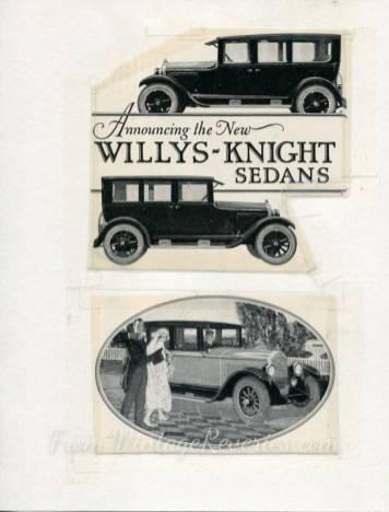 willys knight sedan ad