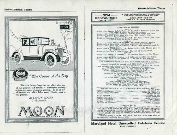 Moon Motor Company car ad