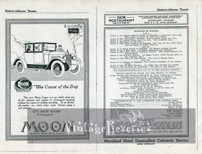 Moon Motor Company car ad