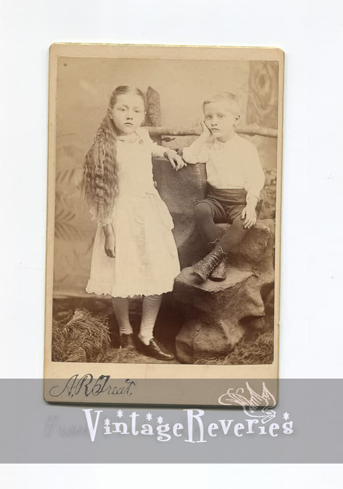 young girl cabinet card