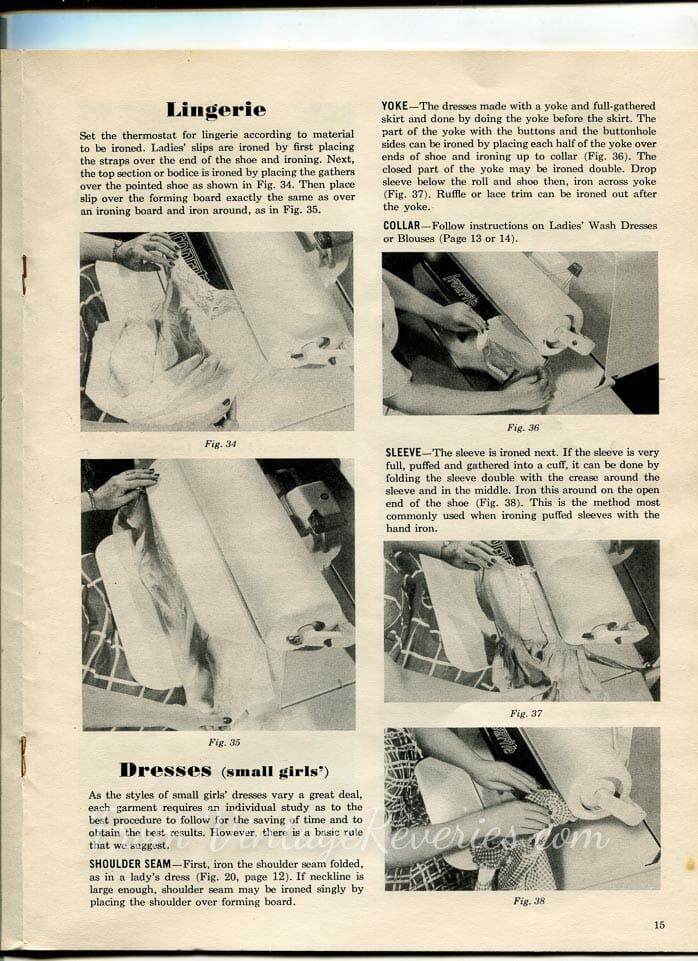 How to Machine Iron Lingerie