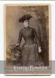 1800s fashionable young woman photo
