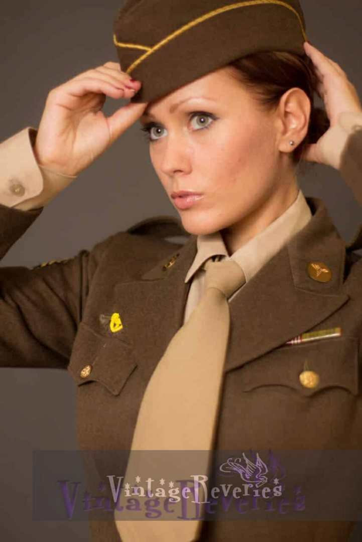 WWII WAC Uniform portrait