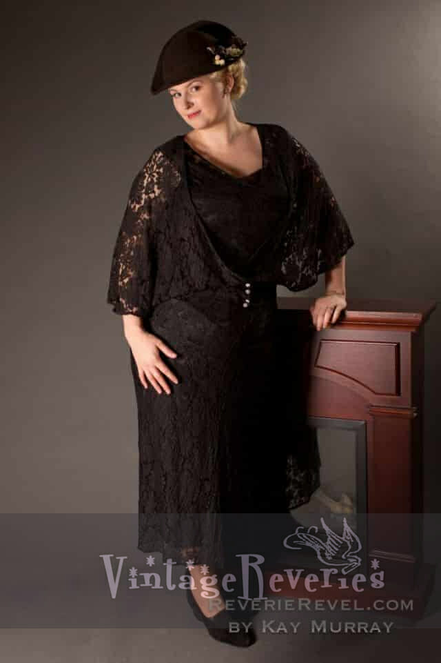 black french lace dress