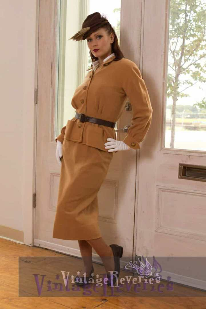 1940s street suit dress