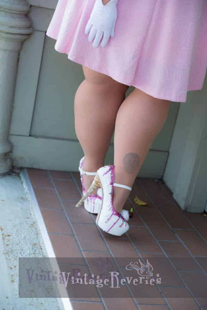 ice cream cone high heels