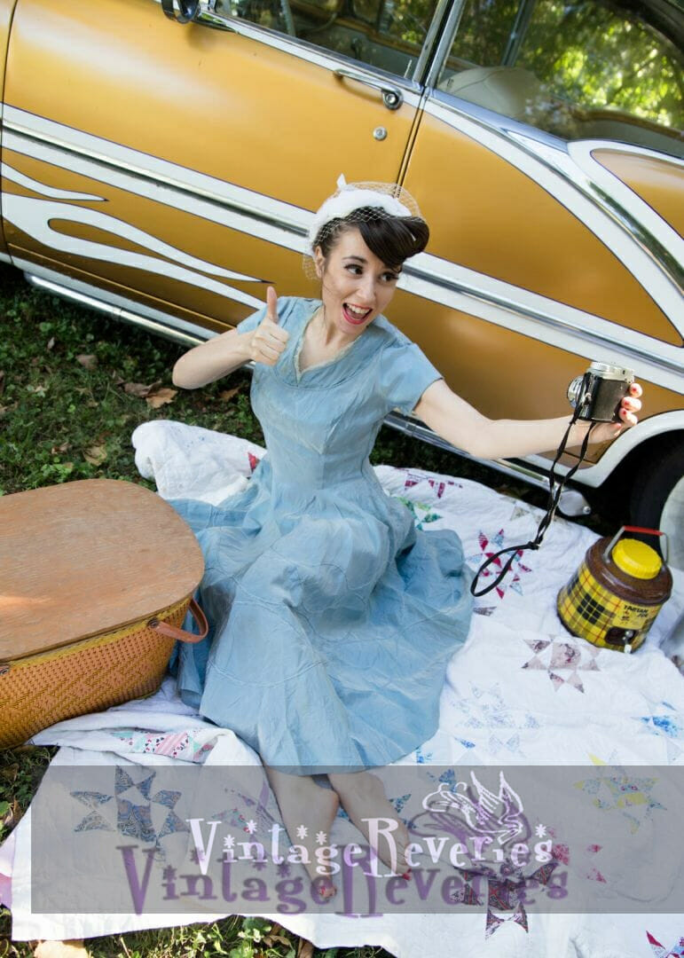 A 1950s styled picnic