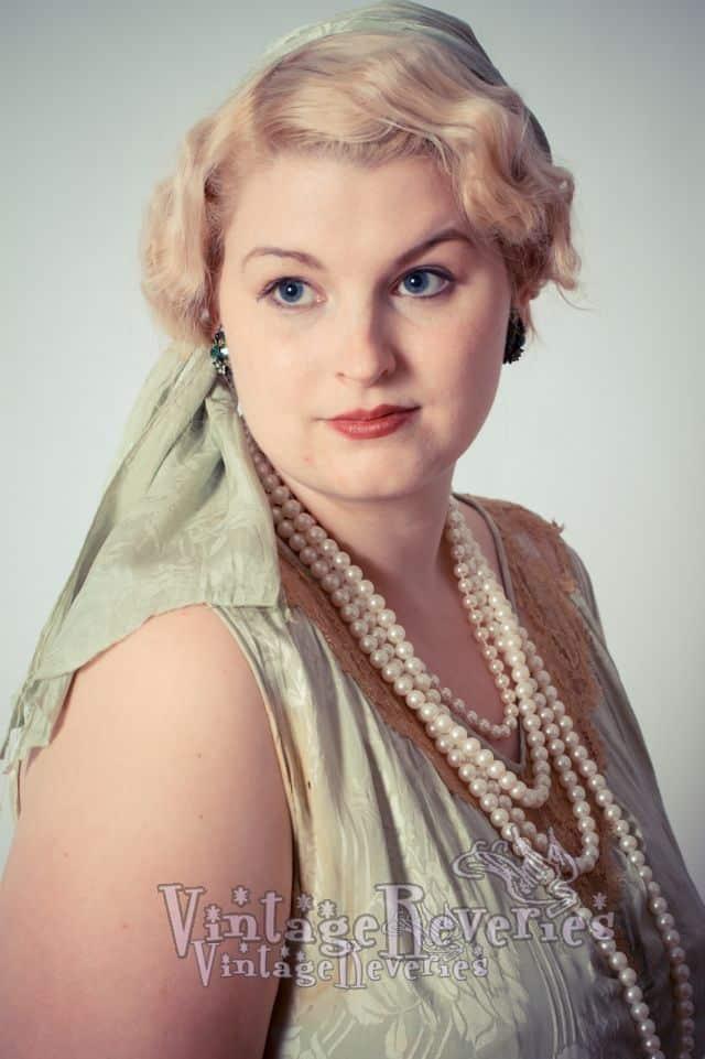 1920s style color portrait