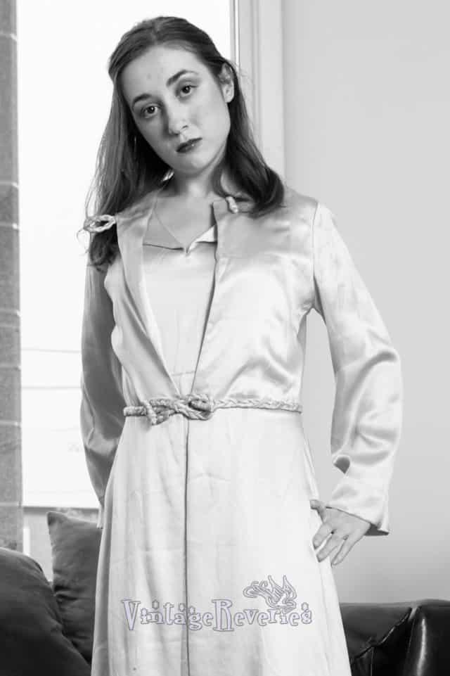 decadent satin gown