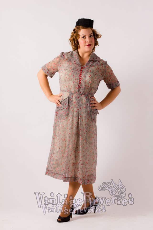 1940s pinup dress