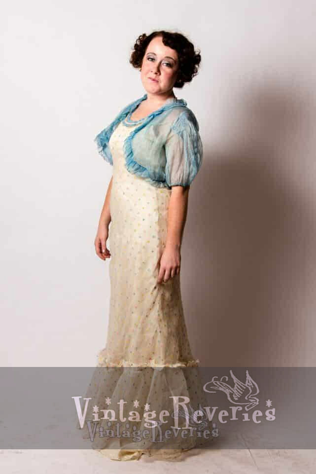 1930s summer evening gown