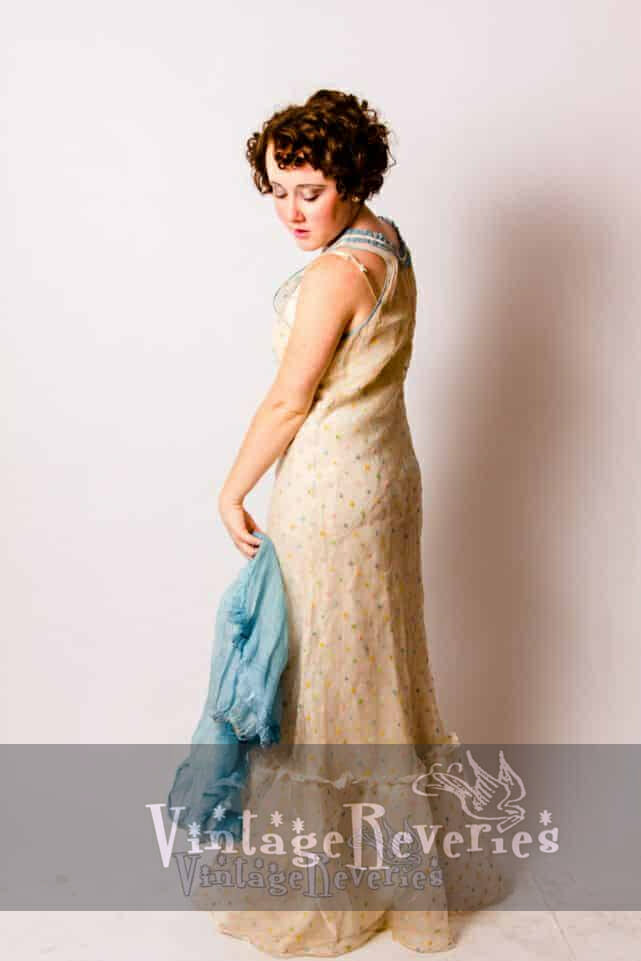 Modeling a 1930s Gown