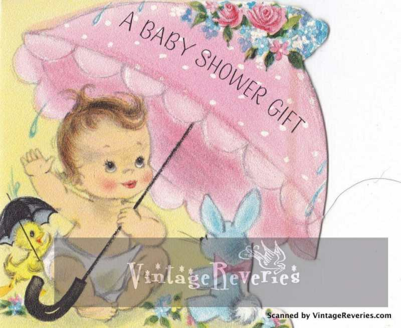 Baby shower for a girl 1960s