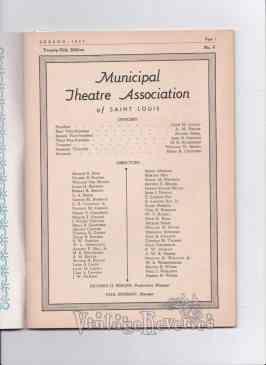 1943 Municipal Theater Association of St. Louis