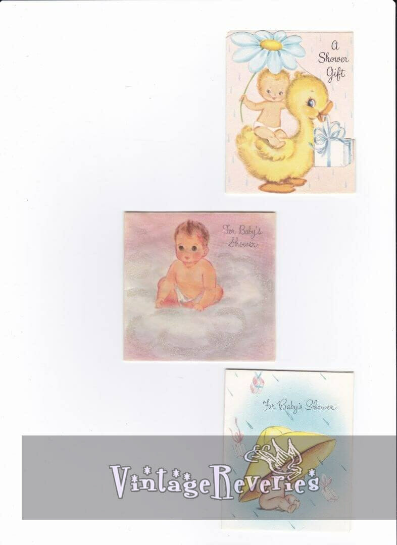baby shower card scans
