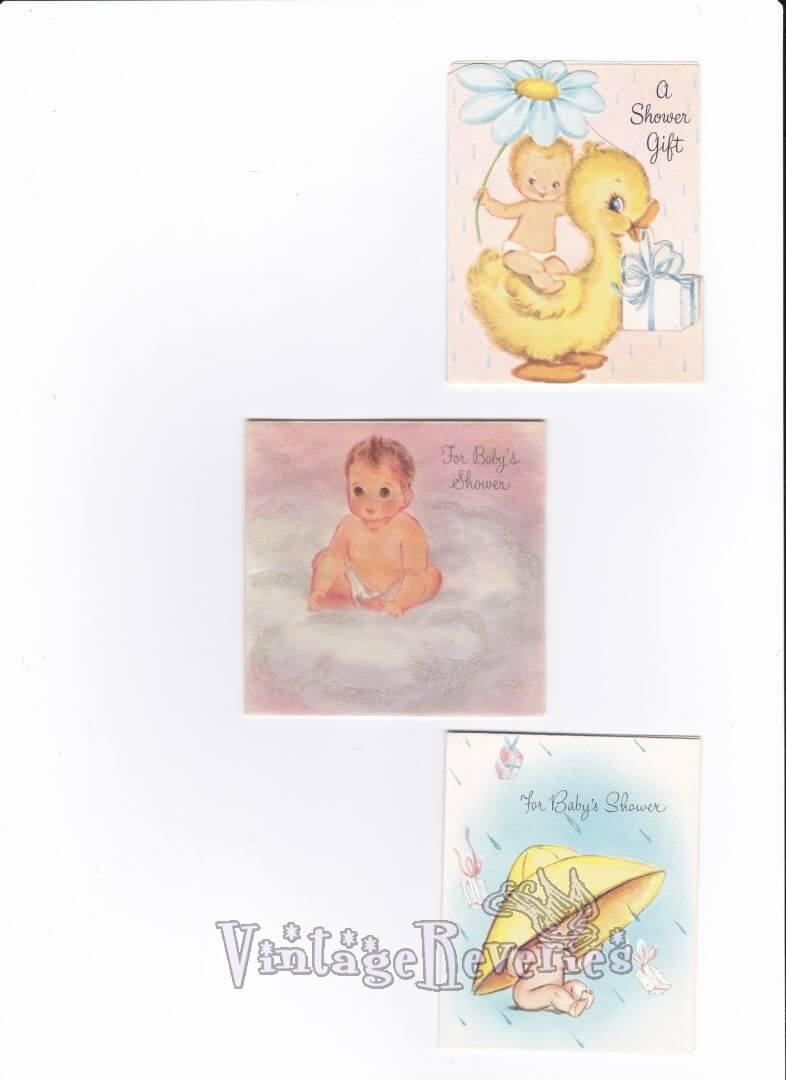 baby shower card scans
