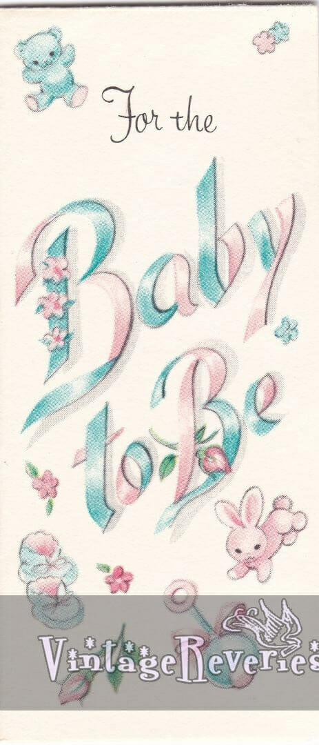 baby shower card scans from the 60s
