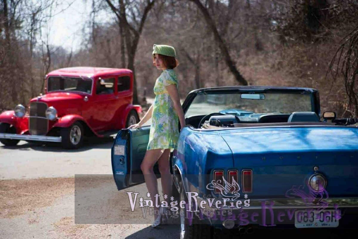 Vintage 1960s Mustang – a forgotten fashion photoshoot