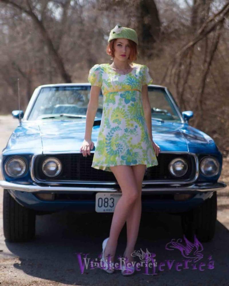 blue 1960s car