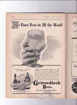 WWII griesedieck beer ad St Louis