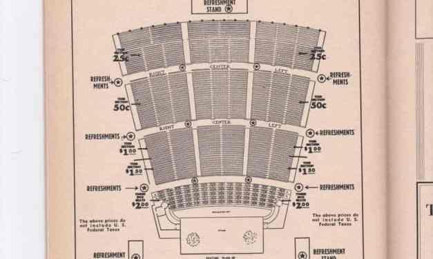 1940s St. Louis Municipal Opera Seating Chart and Ads