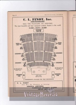 St. Louis Muny seating chart 1940s