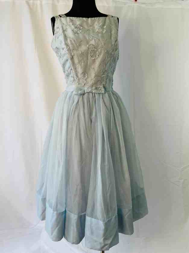 "blue Rare ""new look"" vintage summer party dress"