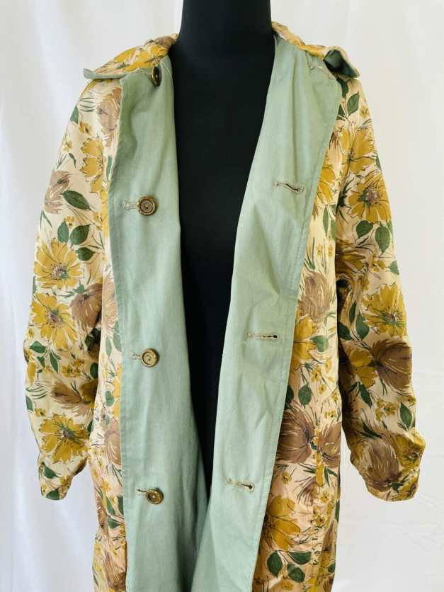 vintage 1960s Floral print coat for sale