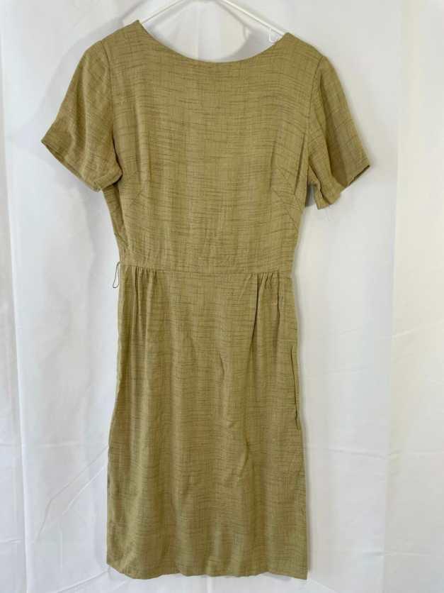 yellow vintage 60s dress