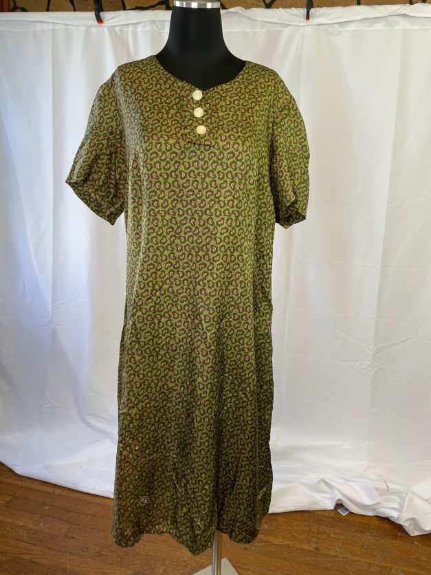 green vintage sheath dress