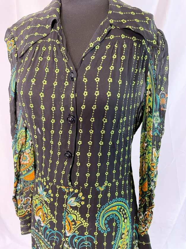 vintage 80s shirt dress