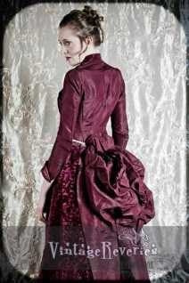 1880s dress back view