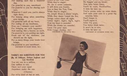 Lyrics to 1930s popular songs