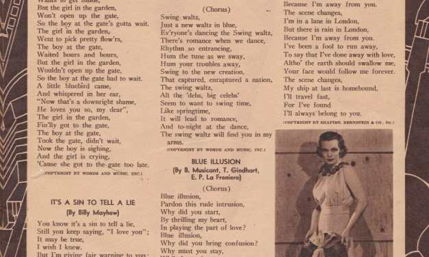 Lyrics to 1930s songs