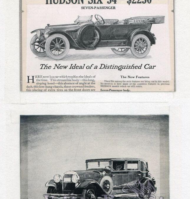 Jewett, Hudson, and Paige automobile ads