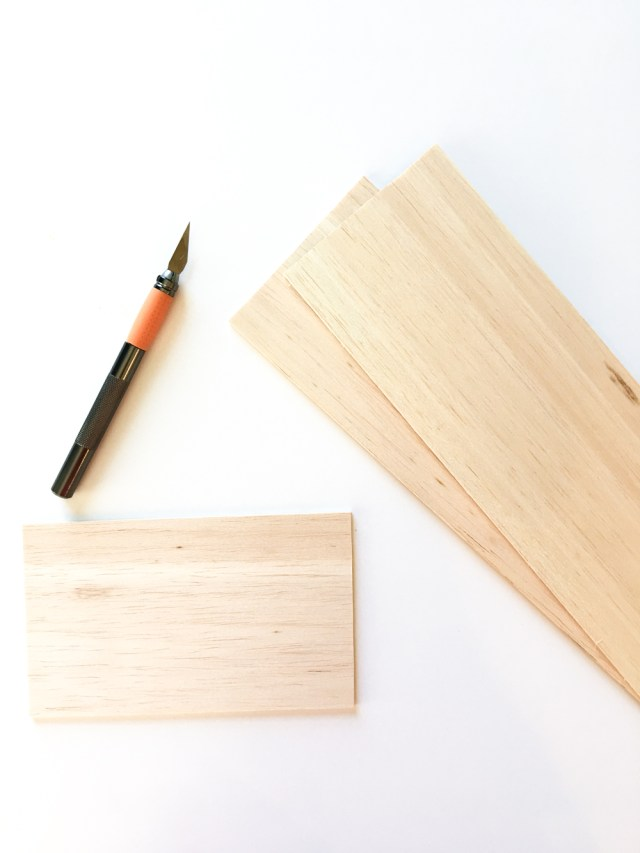 Balsa Wood Exacto Knife