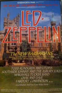 Led Zeppelin Knebworth Park 11th August 1979 Vintagerocks Weblog