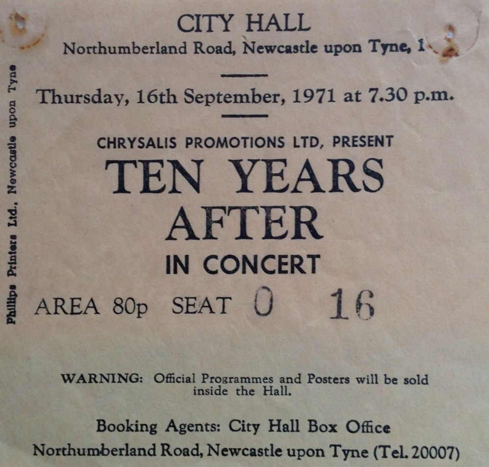 Ten Years After Newcastle City Hall 16th September 1971 (1/4)