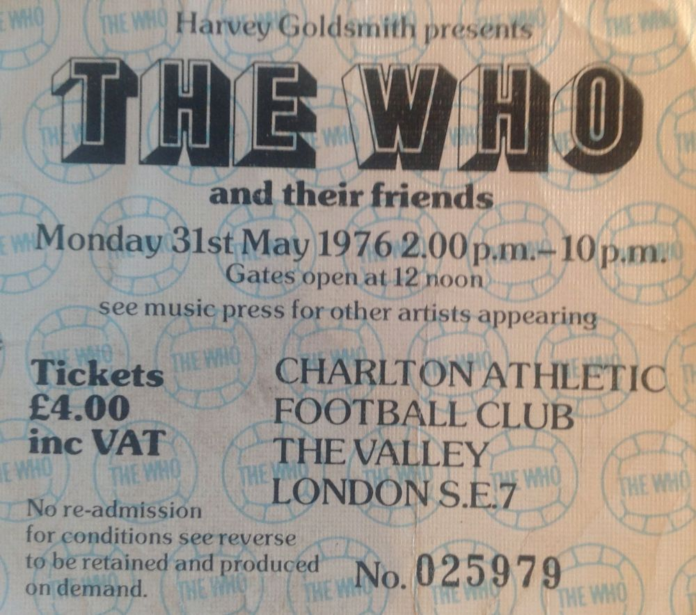 The Who Charlton Athletic Football Club 31st May 1976 (1/3)