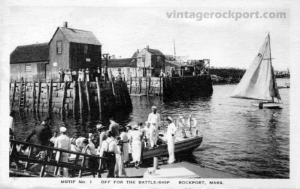 Motif No. 1, Off for the Battleship, Rockport, Mass., circa 1934