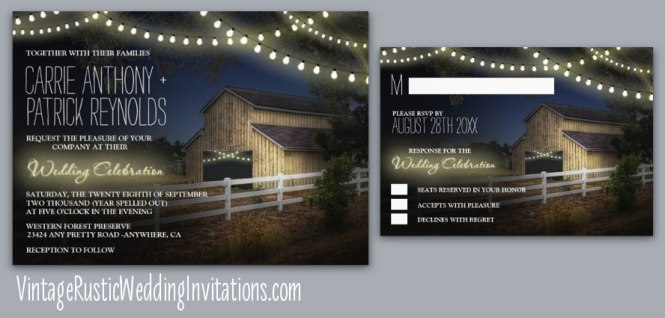 barn themed wedding invitations, Wedding invitations