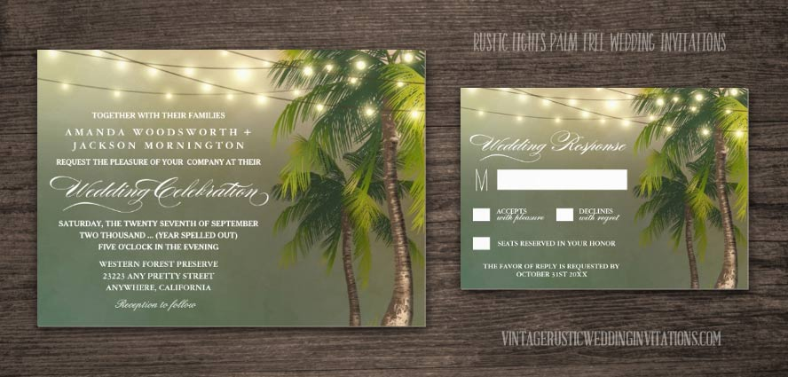 Save Date Cards Rustic