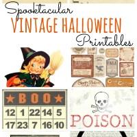 Spooktacular Vintage Halloween Printables
