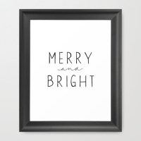 Merry and Bright {free printable}