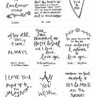 Pocket Page Valentine Quotes {free printable}