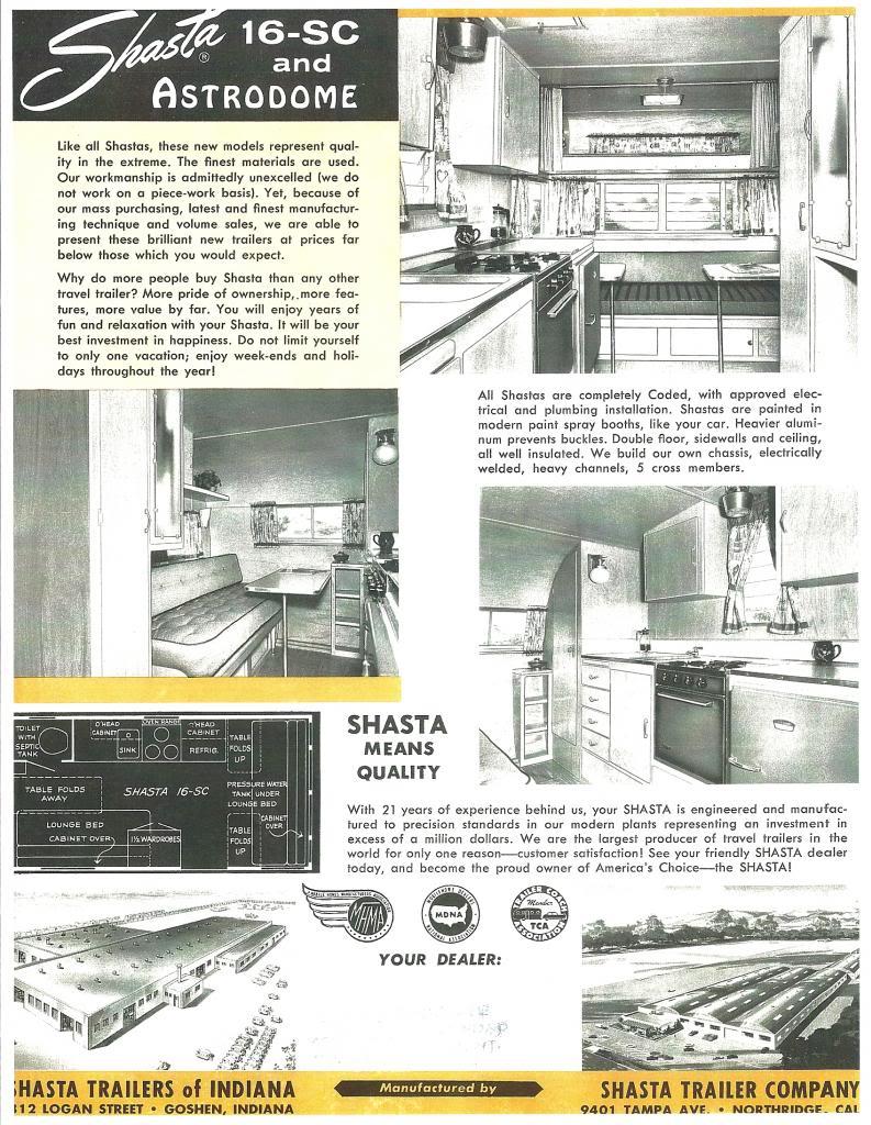 Shasta 16sc Details And Floorplan Vintage Shasta Camper