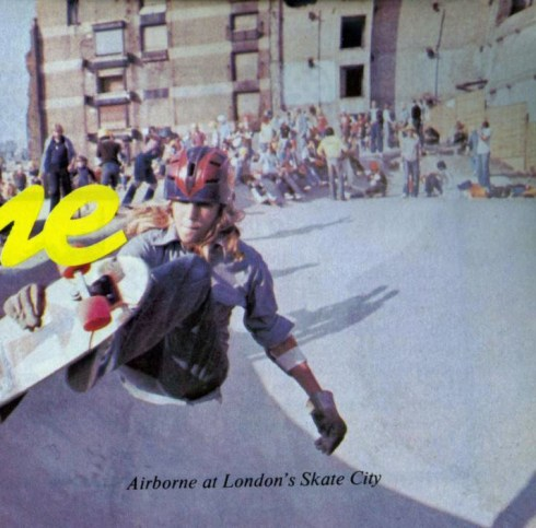 London Skate City skatepark in 1977, from Successful Skateboarding Magazine 1977 with thanks to http://vintageskateboardmagazines.com