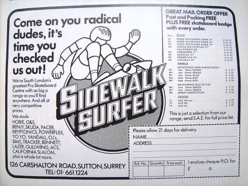 sidewalksurferad